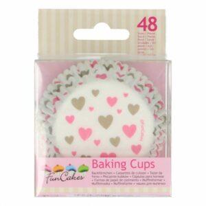 Funcakes Baking Cups - Hartjes